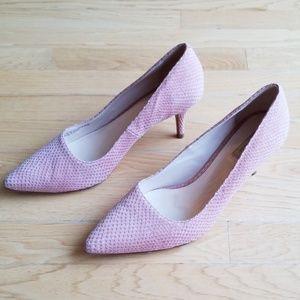 Cole Haan Light Pink Reptile Texture Heels
